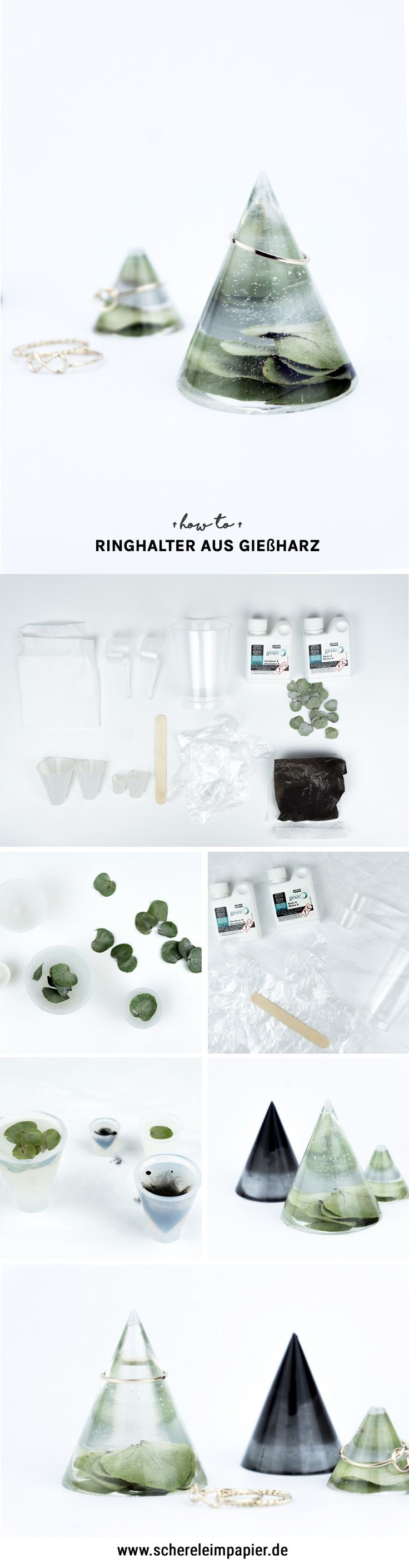 Gift idea: DIY ring holder made of resin itself