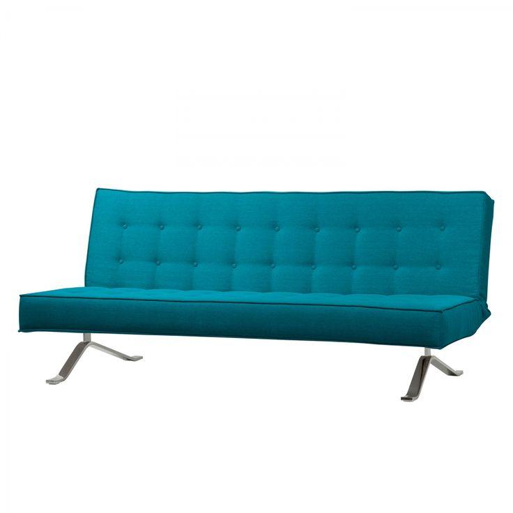 Slaapbank Wave Two - geweven stof - Stof Zahira Turquoisey voor 700€ in diverse kleuren