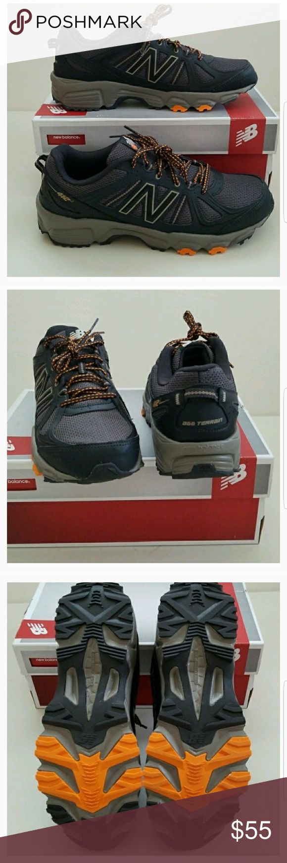 NWT Men's New Balance Trail Running Shoes New men's super awesome trail running fast hiking shoes. New Balance Shoes Athletic Shoes #trailrunningshoes