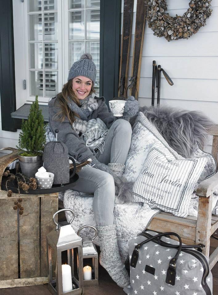 Warm & Cozy...beautiful winter scene for a portrait session.  Love the colors!