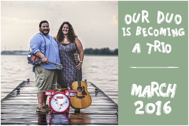 """Our musical pregnancy announcement!  """"What is a band without cymbals?"""" - Phish"""