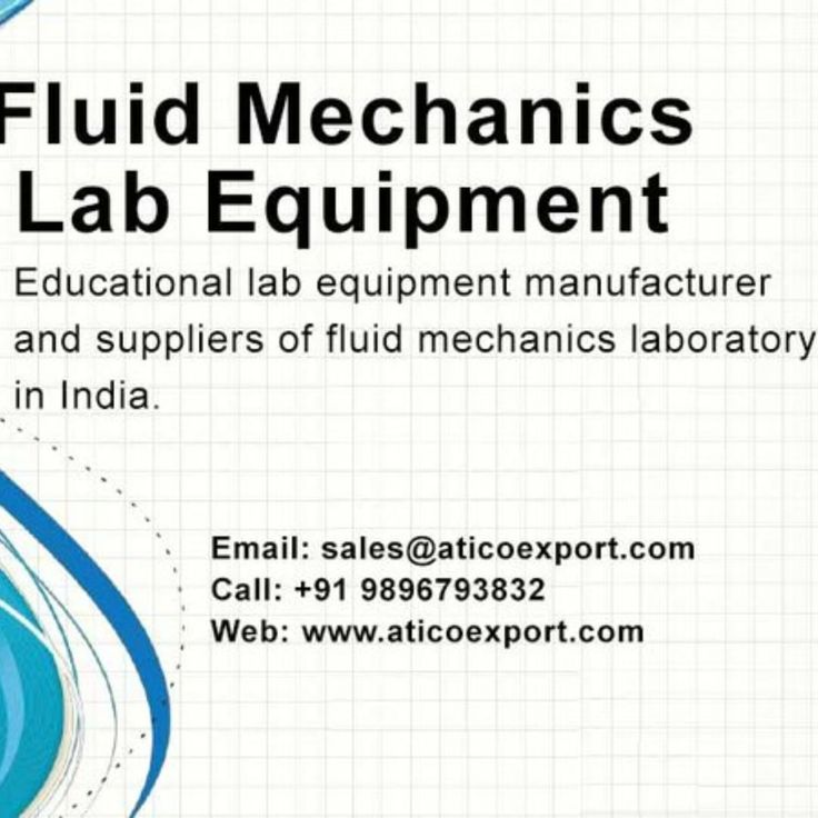 We provide the finest quality #scientific #lab #equipment and #fluid #mechanics #instruments at cheap cost. Stock up on different category #laboratory #apparatus for school labs #research #department or many more. Visit us at https://www.aticoexport.com/product_category/fluid-mechanics-lab/ Contact us 91 999 618 6555 today to get detail about our product and services.