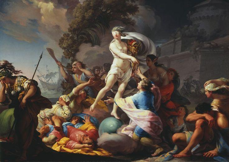 """Tadeusz Kuntze-Konicz(1727-1793), """"Fortuna"""", 1754,"""