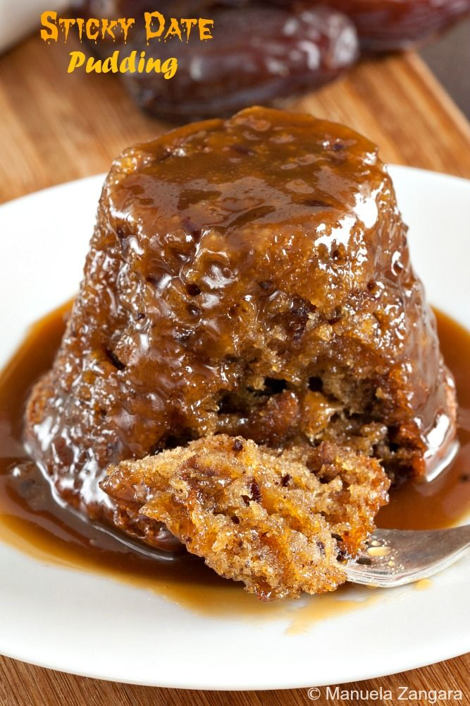 Sticky Date #Pudding with #Butterscotch Sauce - pure comfort food. Use egg substitute