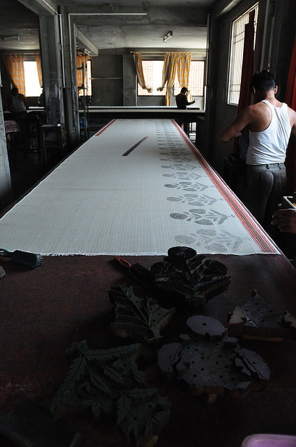 block printing, photo by Yenju Lee