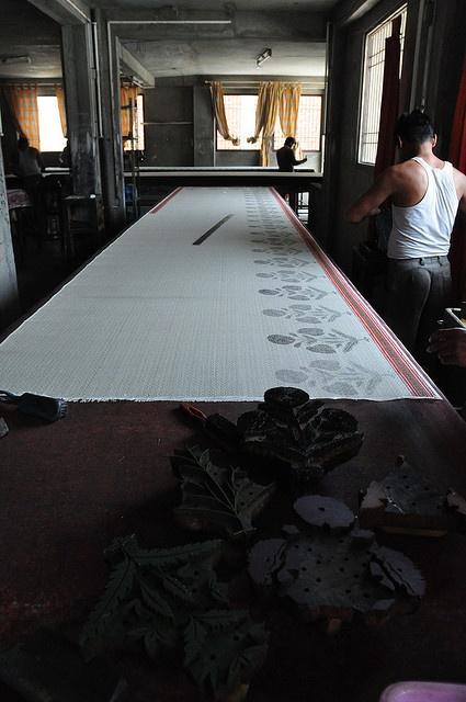 block printing, photo by Yenju Lee