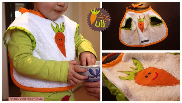 Bib with sleeves