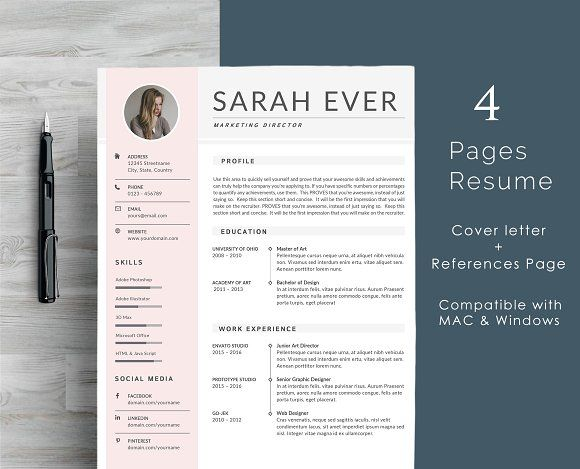 4413 best Resume Templates images on Pinterest Curriculum, Cv - resume template for pages