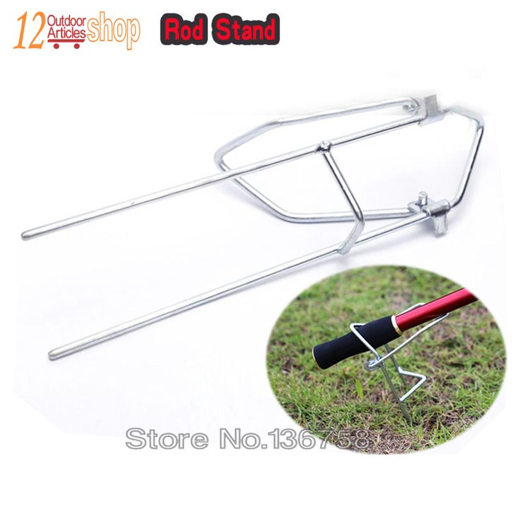 MNFT 1 piece Simple Metal Fishing Rod Bank Holder , Stand Portable Carp Fishing Rod Support Stand Fishing Supplies