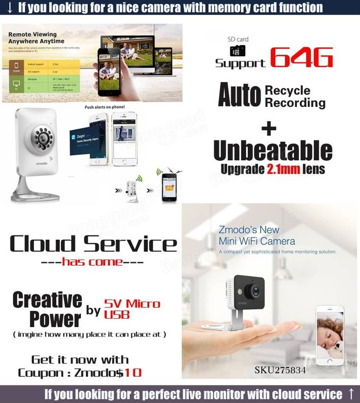 Nur US$39.99 Shop Zmodo 720p HD WiFi Mini IP Sicherheit Kamera Baby Monitor Unterstützung 64G SD Karten Speicher zwei Wege Audio 2.1 mm Objektiv Bei Banggood.com. Mode kaufen Überwachungskamera Online.