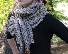 Knit-Look Braided Scarf