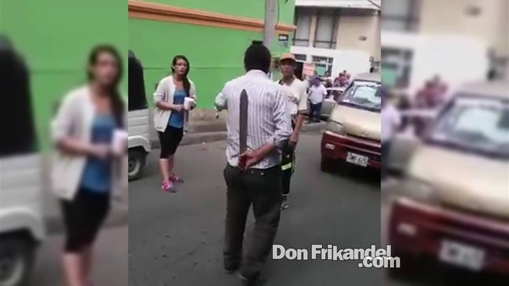 Con machete en mano destierran ladrones, Fusagasuga, Cundinamarca, Colombia