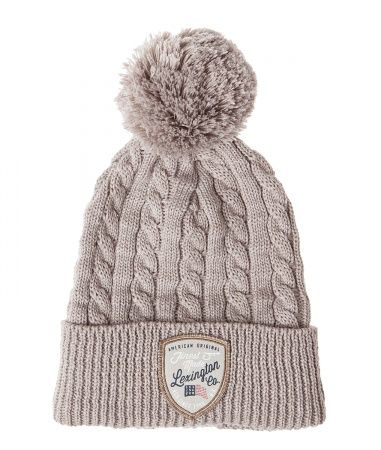 Midland Beanie Beige. Hat with Lexington logo, american flag. Shop this and other fall fashion 2016 styles from Lexington: www.lexingtoncompany.com