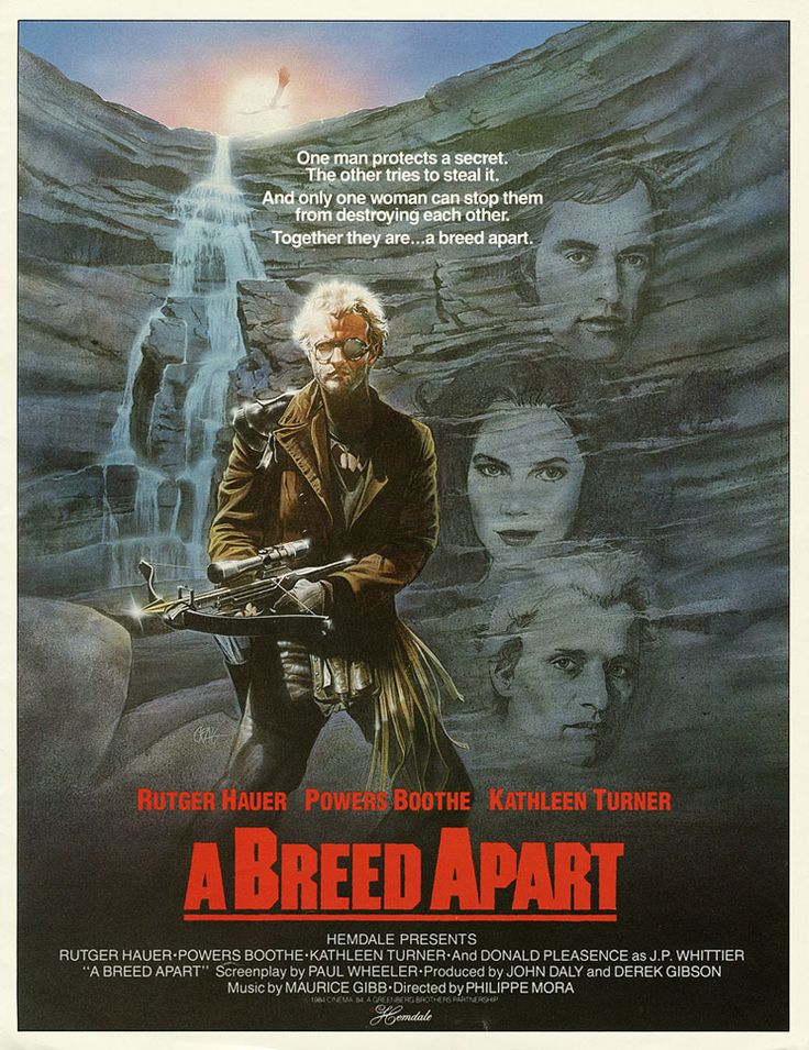 A Breed Apart (1984) Stars:  Rutger Hauer, Powers Boothe, Kathleen Turner, Donald Pleasence, Brion James, John Dennis Johnston ~ Director: Philippe Mora