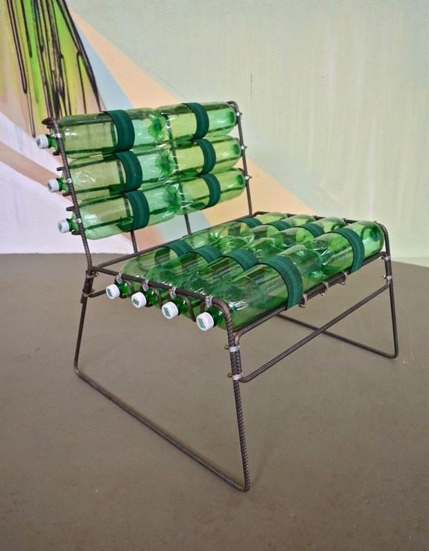 Plastic bottle seating
