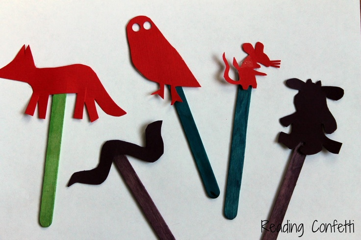 Shadow play with The Gruffalo's Child - brilliant idea