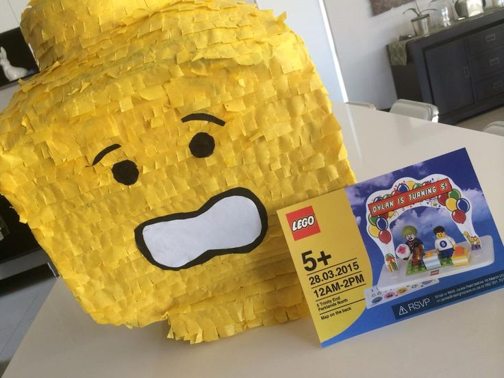 Lego Pinata and invitation