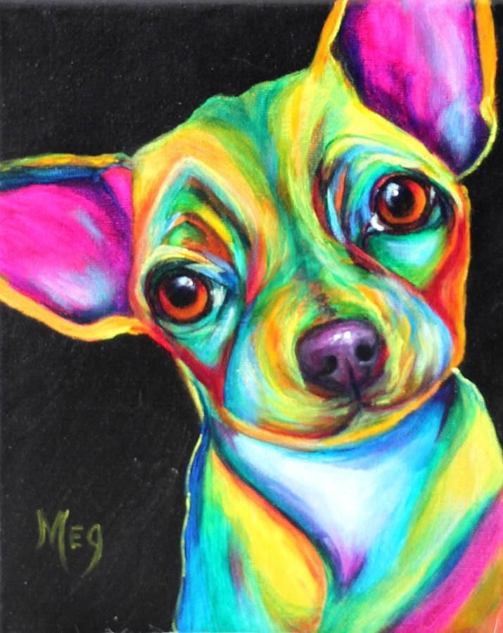 """Pop Art dog.7.12"""" greeting card by Meg Keeling. Description from fineartamerica.com. I searched for this on bing.com/images"""