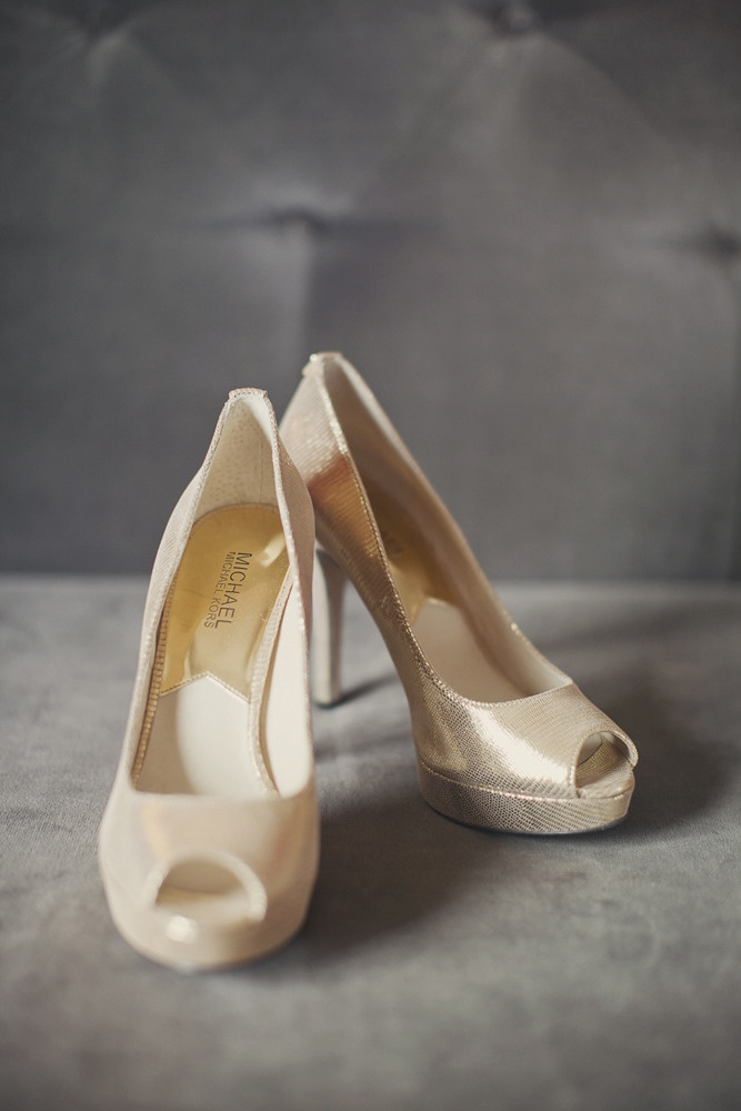Pretty gold peep toe shoes by Michael Kors ~ Photography by ourlaboroflove.comWide Width Shoes, Atlanta Wedding, Michael Kors, Georgian Terraces, Bridesmaid Shoes, Gold Heels, Peep Toes Shoes, Terraces Hotels, Gold Shoes