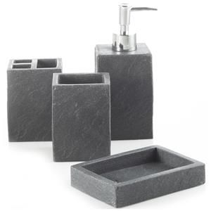 19 best accessoire de salle de bain images on pinterest for Charcoal bathroom accessories
