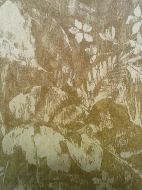Behang, leger groene bladeren