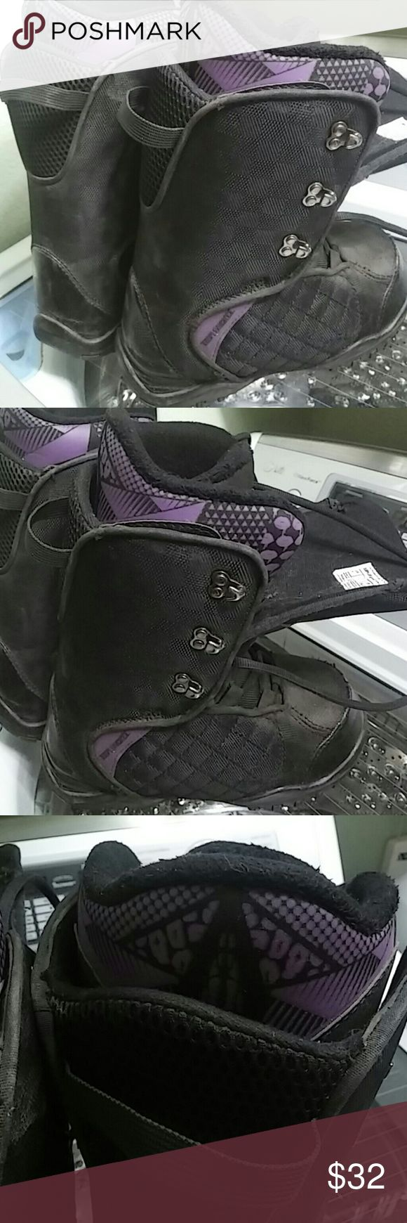 Triple Nickel Women's Snowboarding Boots Size 7 Wore for one season and realized i had the wrong size. Bought from Big 5 Sporting Goods.   Have a snowboard (142cm) and binding (m) set up for sale as well.. Check out my facebook page!! Triple Nickel Shoes Winter & Rain Boots