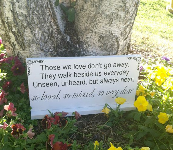 Wedding Signs -- In Loving Memory - Wedding Signage- Custom Wood Signs -- Photo Prop on Etsy, $25.95