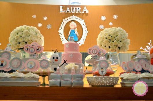 Ideias de decoração para Festa Frozen baby