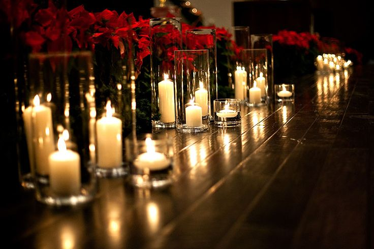 Candles In Cylinder Vases To Line The Aisle This Would