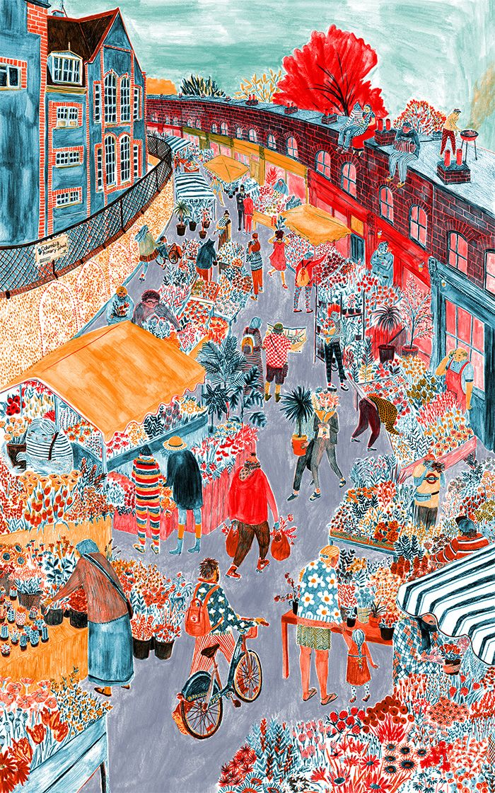 A color fiesta on the blog today! Drawings by Mouni Feddag. Many more in the link: http://www.artisticmoods.com/mouni-feddag/