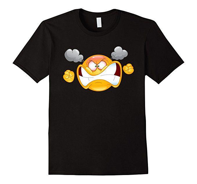 Emoji Shirt Furious Angry Emoticon Emoji Tee