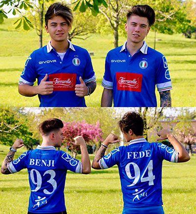Quest'anno anche loro hanno partecipato alla nazionale cantanti di calcio (italiana), con i numeri 93 (Benji) e 94 (Fede)