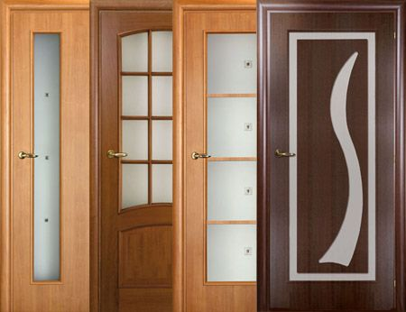 Межкомнатные двери Венге со стеклом