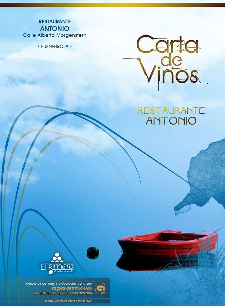 """Carta de Vinos """"Restaurante Antonio"""" - Cliente: Apa distribuciones 2015"""