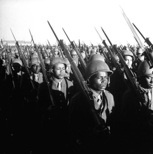 Black Soldiers Training for WWII