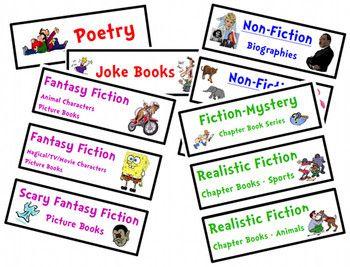 Library Genre Labels