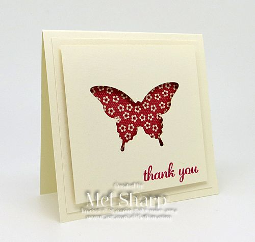 Stampin' Up!, stampin up, SU, su, express yourself, 3x3 card, butterfly punch