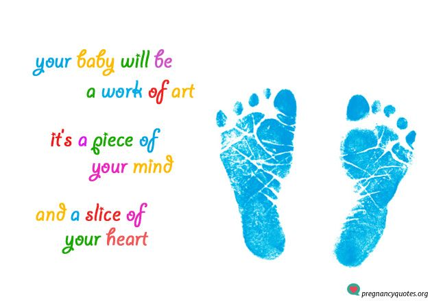 Cute baby feet quote - blue baby feet imprints. Best Pregnancy Quotes.  #maternal #babybelly #motherhood #newbaby #mommytobe #babyfeet