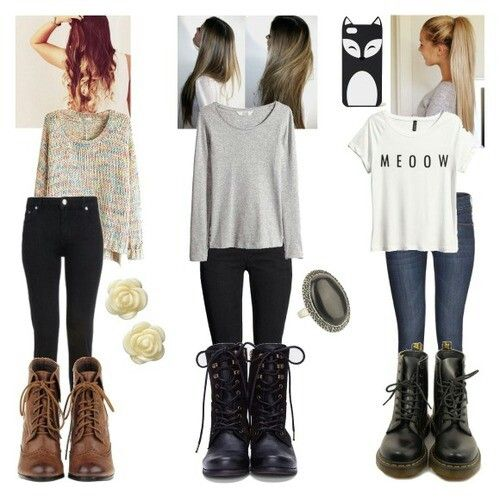 Cute comfy outfits boots simple | Dream closet | Pinterest ... - photo#24