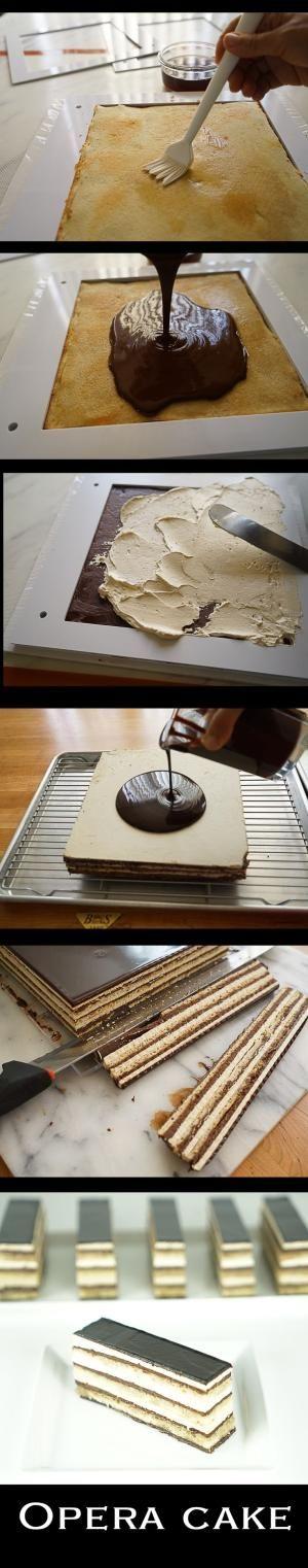 Opera Cake step by step by elinor