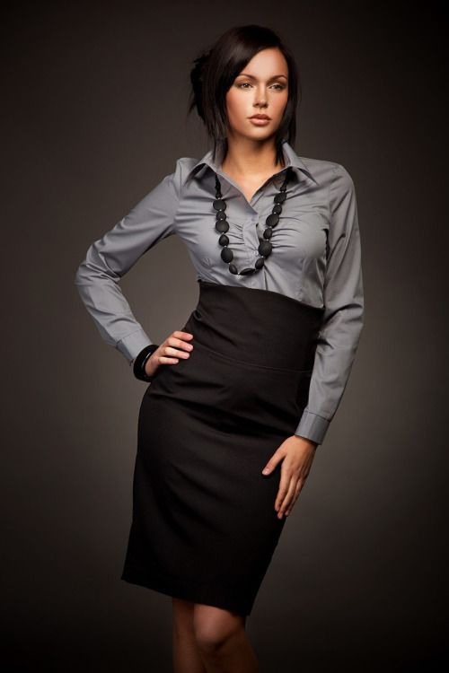 sexy secretary in gray blouse and pencil skirt loves her work beautiful secretaries in. Black Bedroom Furniture Sets. Home Design Ideas