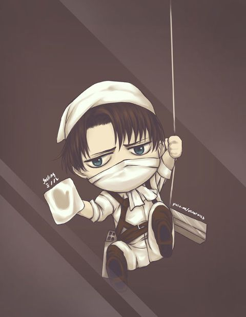 Levi is so small!! I can't stop laughing when I looking to his small hand  Levi, AOT