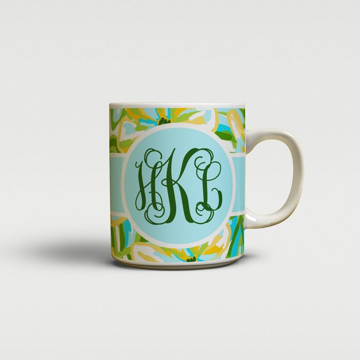 Tropical floral personalized coffee mug, Ceramic 11 ounces, Dishwasher safe. The design is printed on both sides. Dishwasher and microwave safe. Glossy ceramic, holds 11 ounces. Comes in a gift ready white box with styrofoam padding for protection.