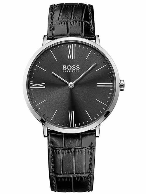 Ceasul barbatesc Hugo Boss Jackson 1513369 are mecanism quartz si display analog. Carcasa este fabricata din otel inoxidabil iar bratara din piele cu sistem de inchidere cu catarama. Ceasul afiseaza ora si minutele.