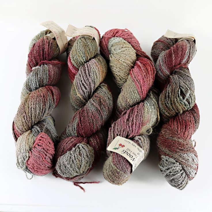 Hand-painted Boucle Yarn SERENGETI Wool in the Woods: Cyclone Lot of 4 HANKS #Woolinthewoods #Boucle