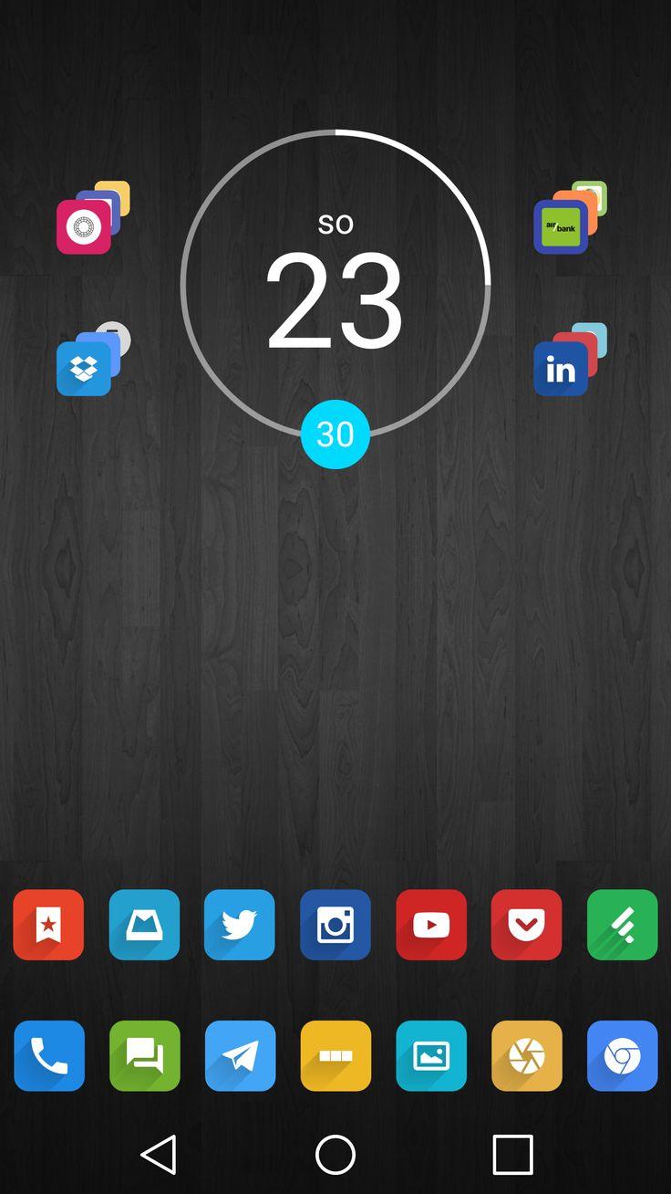 LG G4 w/ Nova launcher + Elta icon pack + Minimal Clock Widget