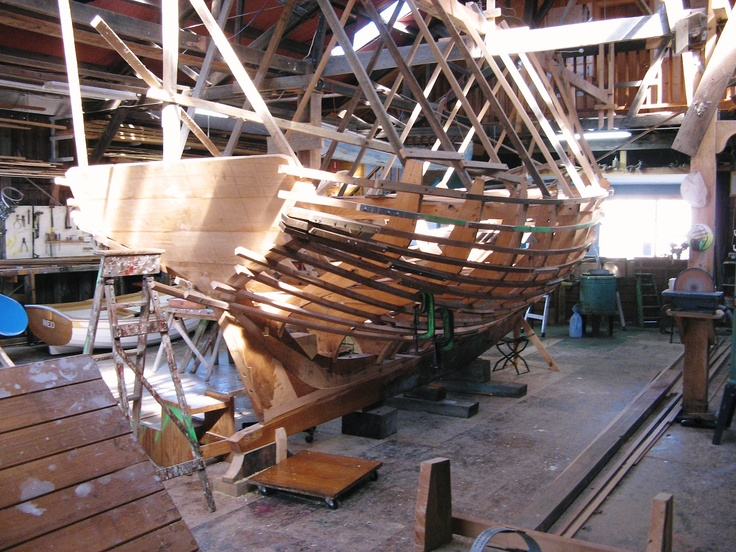Traditional boat building, Huon Valley, Tasmania, Australia