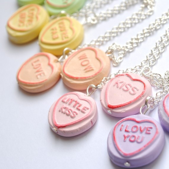 For the kids £4: Clay Ideas, Crafts Ideas, Loveheart Necklaces, Shops Possible, Girly Things, Custom Loveheart, Pretty Things, Gifti Ideas, Polymer Clay