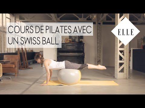 Cours de pilates avec un Swiss Ball ┃ELLE Pilates - YouTube