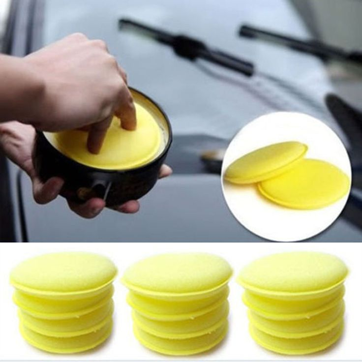 10 PCS Anti-Scratch Car Wax Polish Foam Soft Sponges Pad For Cleaning Vehicle Tools Yellow